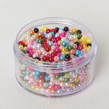 Hot Selling 1000 Pcs Assorted Color Acrylic Plastic Beads Pearl Imitation Round Beads 4mm Dia. 15 Color to Selection