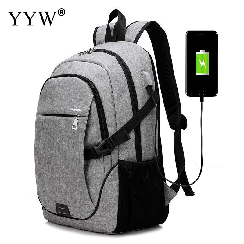 YYW USB Interface Laptop Backpacks Large Capacity Anti-theft Mochila Womens Mens Casual Business Student College School Bags<br>