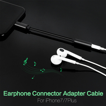 Audio Cable For iPhone 7 Earphone Headphone Jack Adapter Lightning to 3.5mm Jack Aux Cable Converter For iPhone 7 Plus