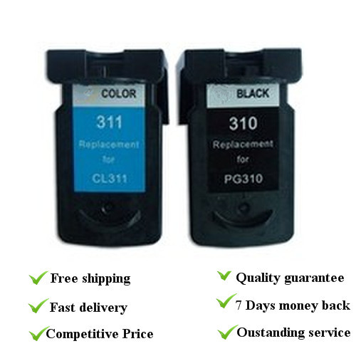 1set suit for canon PG310 CL311  Remanufactured ink cartridge with dye ink, 100% quality guarantee<br><br>Aliexpress
