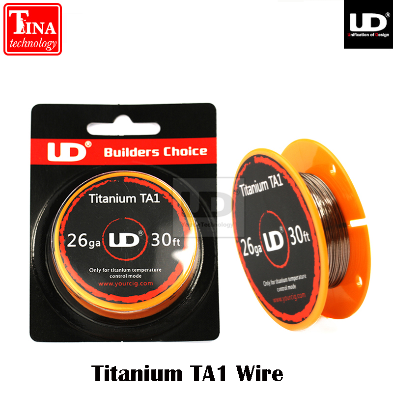 100% Original Youde UD Titanium TA1 Wire with 28ga 26ga 30ft/roll 1 roll/lot(China (Mainland))