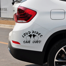 Loud Pipes Save Lives Funny JDM Car Sticker Fits Truck Bumper Rear Windshield Fuel Tank Cap Laptop Kayak Vinyl Decal Decor Humor