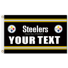 YOUR TEXT Pittsburgh Steelers Flag N*FL World Series Football Team 3ft X 5ft Pittsburgh Steelers Banner Steelers Flag(China)
