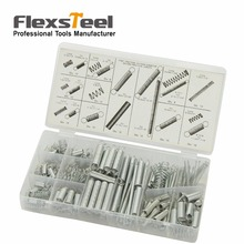 Flexsteel 200 Pieces Springs in 20 Sizes/Styles Steel Extended and Compressed Spring Shop Assortment Kit Set in Plastic Case