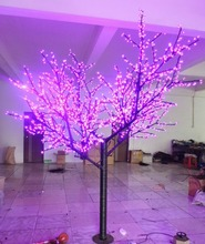 Free ship Christmas New year LED Cherry Blossom Tree light 1728 pcs Bulbs 2.5m/8.3ft Height 110/220VAC Rainproof Outdoor Usage(China)