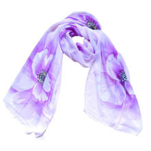 1Pc 2017 New Hot Fashion Women Lady Flower Scarf Wrap Spring Summer Shawl Chiffon Neck Circle Voile Soft Scarves