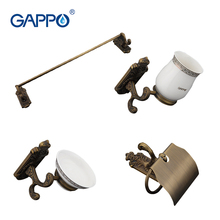 Gappo 4PC/Set Bathroom Accessories Towel Bar,Soap Dish,Toothbrush Holder,Toilet Paper Holder  Bath Hardware Sets G36T4