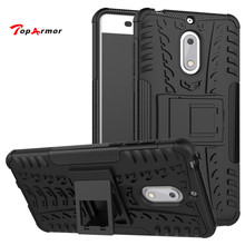 "TopArmor Case For Nokia 6 5.5"" phone case Heavy Duty PC+TPU Shock proof Armor hard case for nokia 6 case cover(China)"