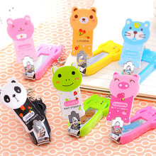 MSQ 3 pcs/lot Cute Nail Cutter Portable Mini Cartoon Nail Clipper Trimmer Manicure Scissors Tools