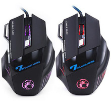 Best Sale 7 Buttons 5500 DPI Super Led Optical Professional USB Wired Gaming Mouse High Quality Computer Cable Game Mice(China)