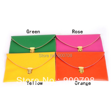 Free shipping 500PCS/Lot 2013 New Womens Envelope Clutch Chain Purse Lady Handbag Hot Products(China)