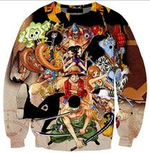 Harajuku cartoon 3d sweatshirt jumper Japanese anime One Piece character Monkey D. Luffy sweatshirt hoodies pullovers outerwear