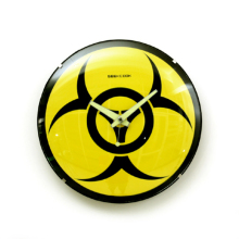 Free Shipping 1Piece Novelty Wall Clock Biohazard Wall Clock Home Wall Clock