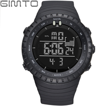 2017 Fashion Shock Sports Watch GIMTO Led Digital Watch Men Waterproof Silicone Military Male Clock Outdoor Diving Watch relogio