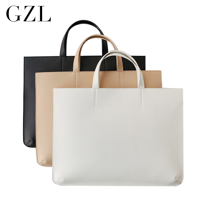 GZL PU leather women men handbags business briefcase notebook laptop bag casual totes female large capacity shoulder bags HB0006<br>