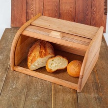 bread box wooden Vetta food storage container breakfast for kitchen Solid Continental storage food snack gifts 35*18cm(China)