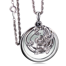 New arrival 65cm long Chain Crystals Necklace Reading Glass Pendant Women Necklaces W/ Magnifying Glass Pendants Free shipment(China)