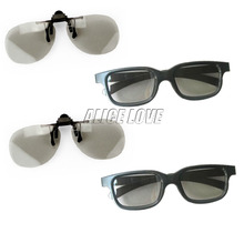4pcs include 2X3D Glasses for Myopia 2X 3D Glasses  Watching LG Cinema Passive 3D TVs and 3D RealD Cinema Free Shipping