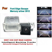 Smart Tracks Chip Camera For Ford Edge Escape For Mercury ariner 2012 HD CCD Intelligent Dynamic Parking Car Rear View Camera(China)