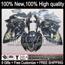 Bodys For SUZUKI Hayabusa GSXR1300 Stock black 08 09 10 11 12 13 14 15 19HM16 GSX R1300 GSXR 1300 2008 2009 2010 2011 Fairing(China)