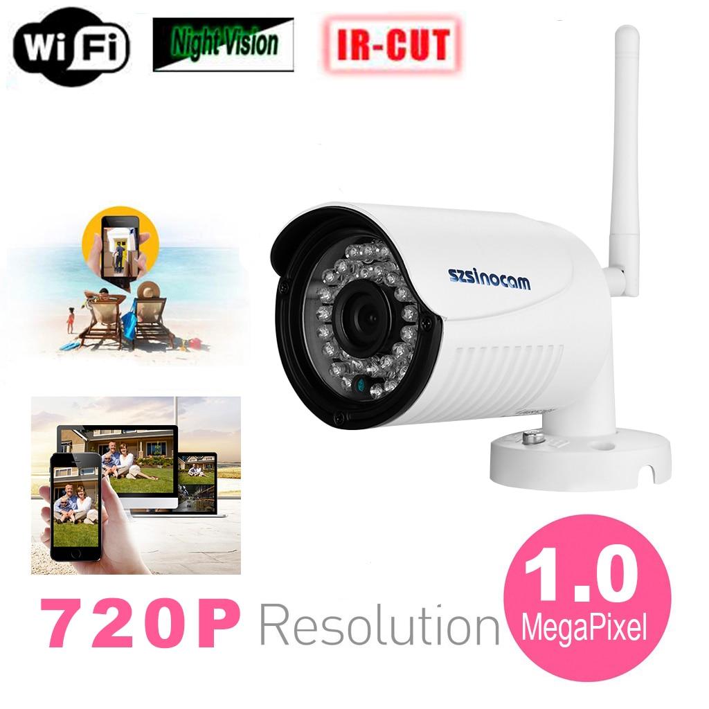Szsinocam 720P Waterproof WLAN Wireleess 1.0 Megapixel ONVIF Security CCTV WiFi IP Camera EU Plug<br>