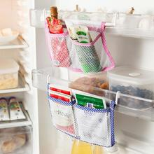 Hanging Storage Bag Kitchen Cabinet Cupboard Fridge Spice Storage Bag Refrigerator Save Space Storage Organizer Pouch 2 Pocket