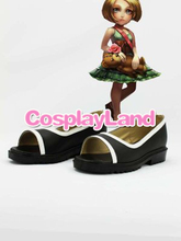 Customize Boots LOL Cosplay the Dark Child Annie Black Cosplay Boots Cosplay Costume Anime Party Shoes(China)