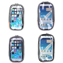 Waterproof Road MTB Bike Bicycle Front Top Frame Handlebar Bag Cycling Touchable PVC Screen Pouch For 4.7 - 5.5 inch Cellphone