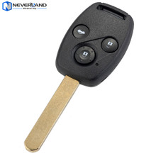 Neverland 3 Button Keyless Entry Remote Car Key Shell Replacement Case Fob 433Mhz ID48 for Honda Accord CRV(China)