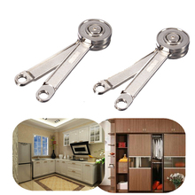 One Pair Adjustable Stays Support Toy Box Hinges Lift Up Tool for Kitchen Cupboard Cabinet Door(China)