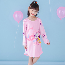 Spring and autumn baby princess dress girls Nightgown lovely long sleeved dress cute cartoon children's loose nightdress(China)