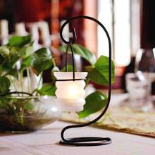 Modern Simple Hanging Countryside Iron Art Candle Holders Bamboo Joint Creative Glass Jewelry Tea Light Candelabrum Home WZ