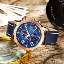 Life Waterproof Original New Curren Fashion Brand Watch Quartz Men's Sports Watches Leather Strap Wristwatches Best Gift For Men(China)