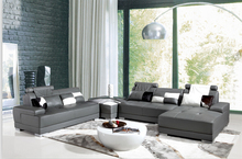 Corner sofa leather with modern design leather sofa u shape and sofas for living room