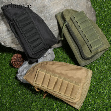 gohantee Molle Magazine Pouch Hunting Buttstock Handgun Rifle Airsoft Stock Ammo Pouch Shell Cartridge Holder Cheek Leather Pad