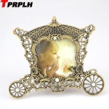 TPTPLH Metal vintage picture frames classic Horse hood picture photo frame small Europe mini photo frames home decor F714(China)