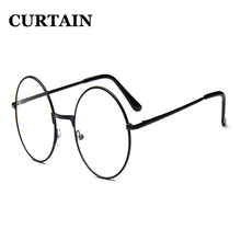 New Classic Vintage Glasses Frame Round Lens Flat Myopia Optical Mirror Simple Metal Women/Men Glasses Frame F0007(China)