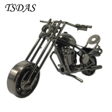 Luxury Black Metal Motorcycle Model Toy Wheel Can Be Moved Iron Motorbike Models Boys Gifts