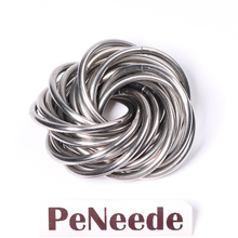 PeNeede New Fidget Toy High Quality Smooth Chainmail Fidget Ball Autism/ADHD Stress  Restless Hands Chainmaille Sensory Toy