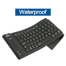 3.0 Bluetooth Keyboard teclado 81/108key Wireless Flexible Soft Silicone black Roll up For PC Tablet Phone IOS/Android Windows