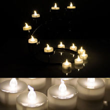 50x Flickering Flameless LED Tealight Flicker Tea electronic Candle Light Xmas Party Wedding Candles Safety Home Decoration(China)