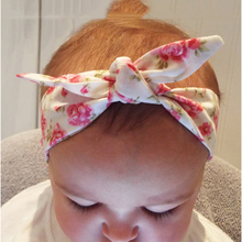 1PC Cotton Headband Girls Knotted Bow Head Wraps Summer Hair Bands Headband Kids Hair Accessories w45(China)