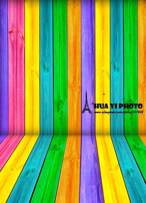 5x10ft(1.5x3m) multi-colored wood floor photo studio background backdrop made of  Art fabric for children photography D-9687<br>