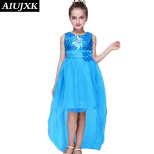 2017 Summer Latest Rosette Girl Dress Birthday Dress for Baby Girl Party Kids Clothes Flower Girl Sleeveless Dress Vincent27