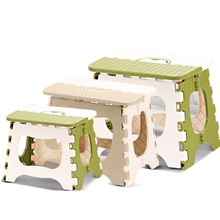 Plastic folding stool thickening portable portable child adult mini small bench chair outdoor fishing home(China)