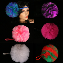 Tutu tulle hair bow pom poms Headband perfect for children and adults Party Decoration