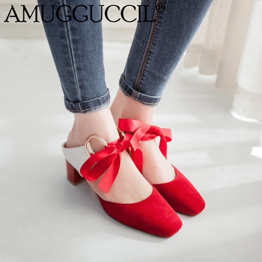 2017 New Plus Big Size 31-47 Red Pink Orange Black Gray Lace Up Fashion Sexy Casual Spring Summer Women Lady Sandals D1085<br><br>Aliexpress