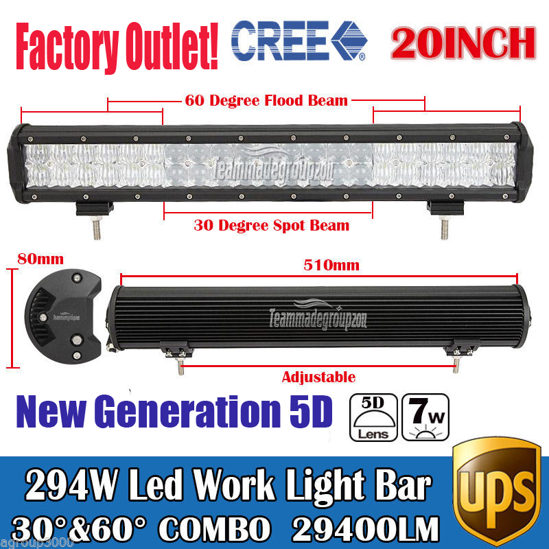 20 294W 5D Cree Chips Super Bright Daytime Running Lights LED Work Light Bar Offroad Car Lamp Boat Pickup External Lights SUV<br><br>Aliexpress