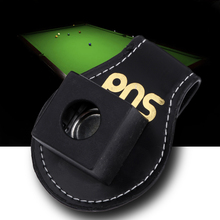 High Quality Pool Billiards Snooker Leather Magnetic Belt Clip Chalk Holder For Standard Chalk Snooker Accessories BHU2(China)