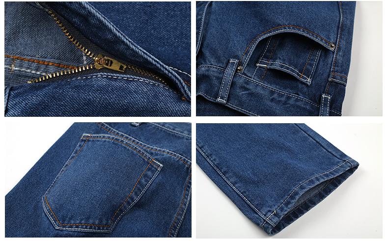 TIGER CASTLE Men Cotton Straight Classic Jeans Baggy Plus Size Spring Autumn Men's Denim Pants Straight Designer Trousers Male 19